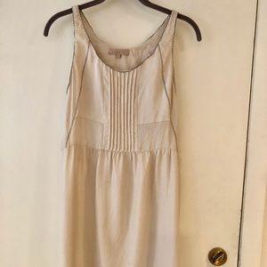 Sandro Silk Sleeveless Pleated Front Dress